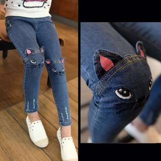 Denim Ripped Jeans 100 110 120 130