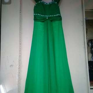 Long gown green for rent only