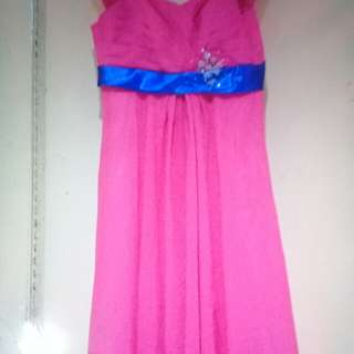 Long gown pink for rent only