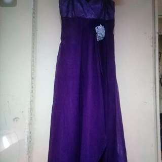 Purple long gown for rent
