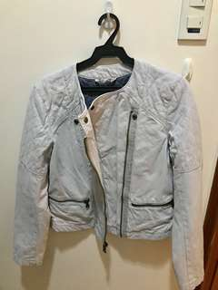 Gap Women's Quilted Grey Motorcycle Jacket