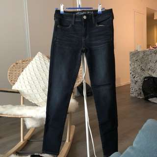American Eagle dark blue jeans/jeggings