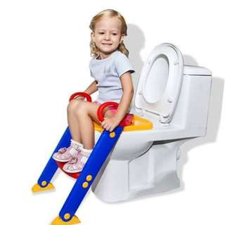 Toilet trainer with ladder