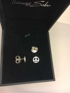 Thomas Sabo Peace Earrings