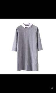 Female fashion seven sleeve sleeves fashion lapel dress