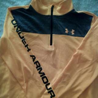 Under armour yellow long sleeves sports wear