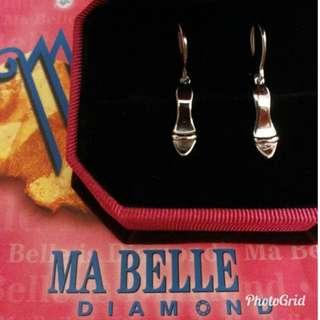 MA BELLE. K14白金(和諧小可愛)耳環,有原單。(不議價)