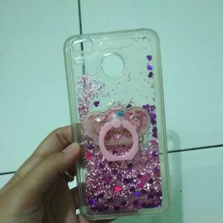 Water Glitter Case Redmi 4x