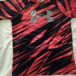 Under armour red and black shirt