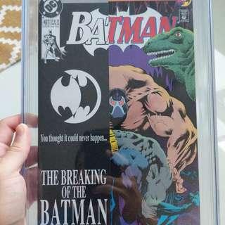 Batman #497 9.8 CGC Graded