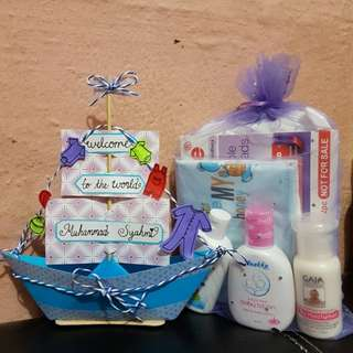 Baby boy Gift Set (Selling the artwork only, gift set only for display)