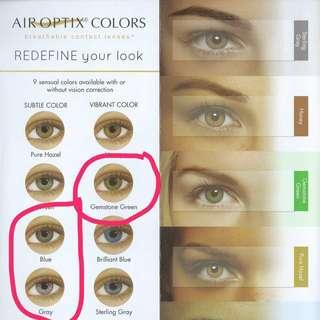 Air optic colour contact lenses