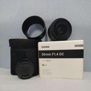 Sigma 30mm F1.4 DC ART Canon Mount