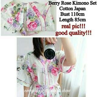 Berry Rose Kimono Set