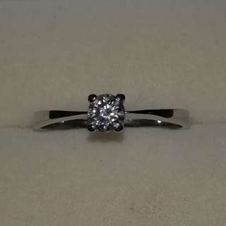 . 20ct Real Diamond 18k japan white gold size 7