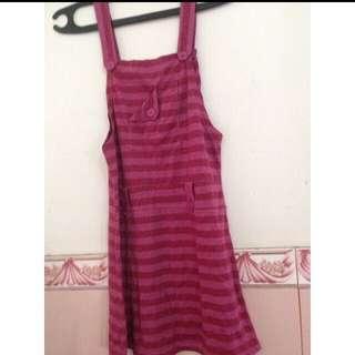 Jumpsuit pink stripes