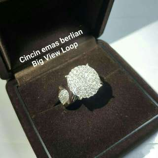 Cincin Emas Berlian Big View Loop.
