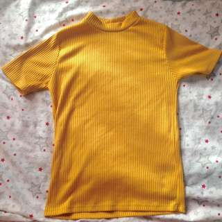 Mustard yellow top