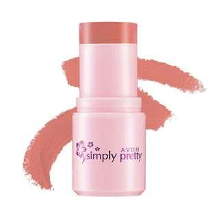 AVON Simply Pretty Shimmer Blush Stick Peachy Glow