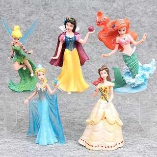 Disney princess figurines set / cake topper