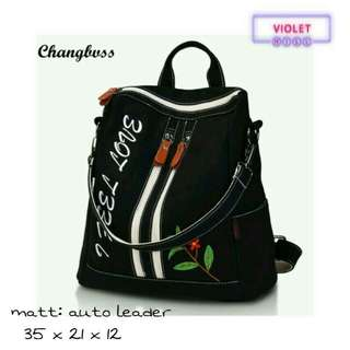 Vhina Backpack | Tas Gendong Ransel Fashion Korea Murah Selempang