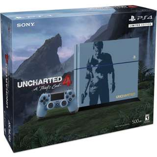 (New - Exploitable) PlayStation 4 PS4 Uncharted 4 Limited Edition Console