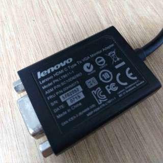 Lenovo HDMI C type to VGA monitor adaptor