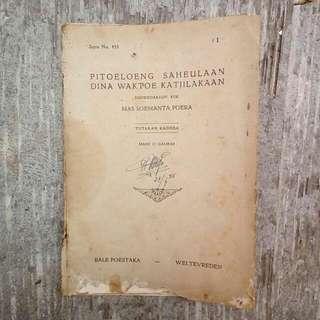 Buku Kuno: Pitoeloeng Saheulaan Dina Waktoe Katjilakaan