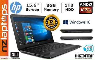 HP 15-ba077cl-QuadCore A12-9700P-8GB-amdR7-15.6""