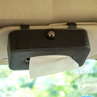 Clip-on Car tissue box + 1 free pack of car tissue