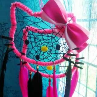 Hello Kitty inspired dreamcatcher