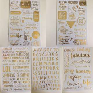 🔥SALE 🔥Book of Gold Stickers