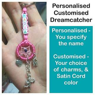Personalised Customised Dreamcatcher Keychain / Dangle (great gift idea) [ Birthday graduation Christmas Raya handmade uncle.anthony uncle anthony uac 2bump]