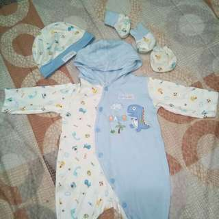 Overall set pure cotton