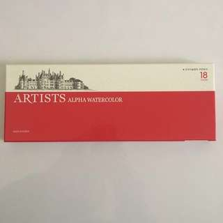 ARTISTS Alpha Watercolor 18 colour set