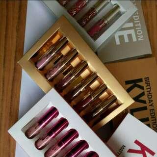Mini kylie 6pcs valentine edition matte liquid lipstick set