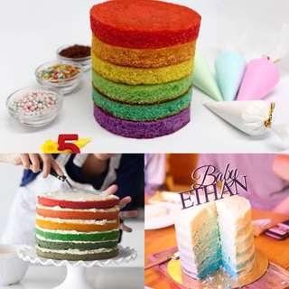 Rainbow Cake set (with eggless option)