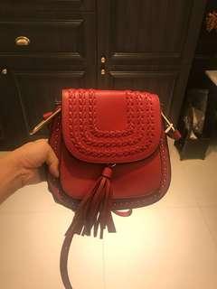 BNWT Maroon Sling Bag