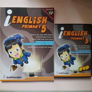 P5 English Assessment Book with DVD