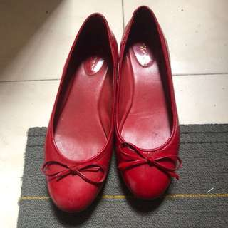 MISS MR RED FLAT SHOES