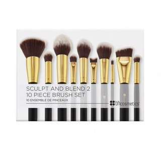 BH cosmetics 10 piece sculpt and blend brush set