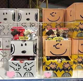 USJ SNOOPY代購 Snoopy charlie 拉櫃小食盒 $155