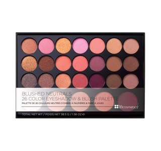 BH cosmetics blushed neutrals - 26 colour eyeshadow and blush palette