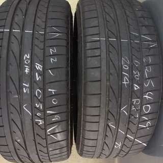 225/40/19 potenza 050a run flat tyre 2pc 75% tread $55pc