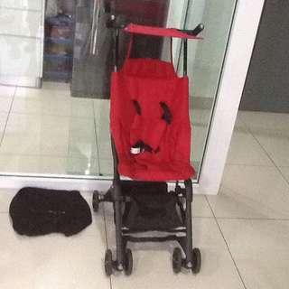 No recline geoby  pockit stroller