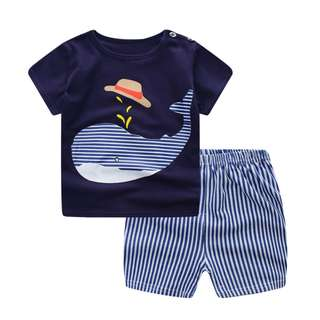 Whale Baby Boy Tshirt and Pants set