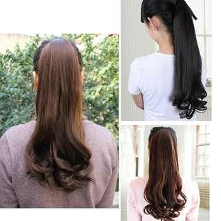 Ladies ClipNCurly Hair Extensions/Wig