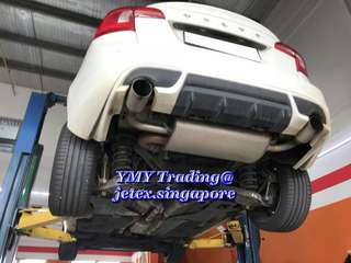 Volvo S60 T4 Upgrades LTA approval jetex Duplex left and right 100mm single round tip catback system..