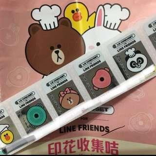 7-11 LC x Line friends 印花