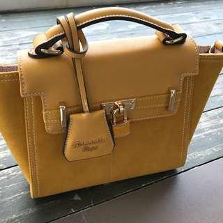 Authentic BN Samantha Vega Suede Leather Bag